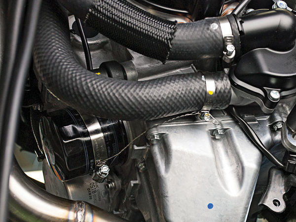 building a safe trackbike, motorcycle hose clamps, racing tips