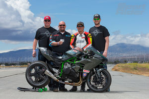 Brock's/Sport Rider crew with Ninja H2 bolt-on project bike
