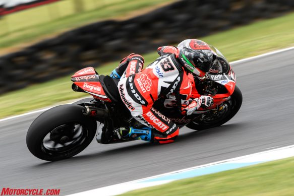 Chaz Davies And Ducati Fastest After Friday World Superbike Practice At Phillip Island